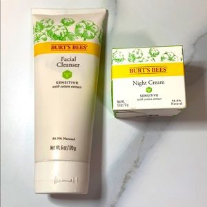 Burts Bees New Night Cream and face wash